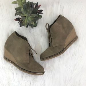 J. Crew MacAlister Wedge Boots Made in Italy